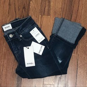 NWT HUDSON JEANS Kids Skinny Crop with Roll Cuff